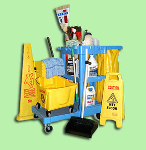 English: Commercial cleaning materials
